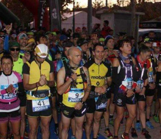 La salida del Campeonato de España de trail de diciembre de 2018 en Cehegín