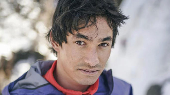 El escalador David Lama
