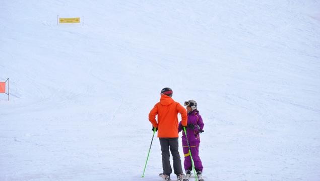 Esquiadores en pistas