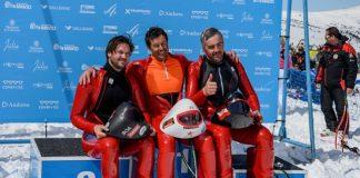 Ricardo Adarraga ha subido a lo alto del podio seguido de Juanki Sánchez y Paris Arroyo