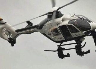 Una imagen del helicóptero de la Guardia Civil
