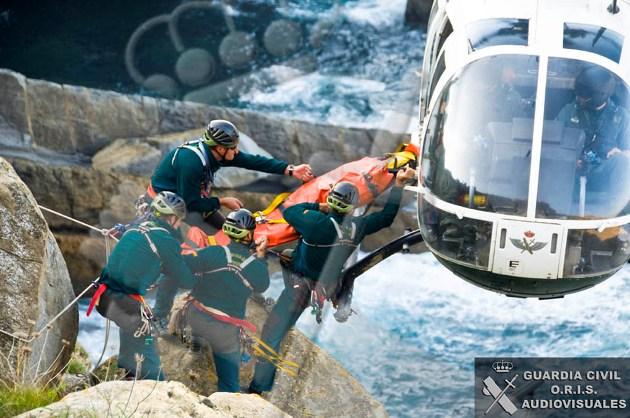 Imagen de archivo de un rescate