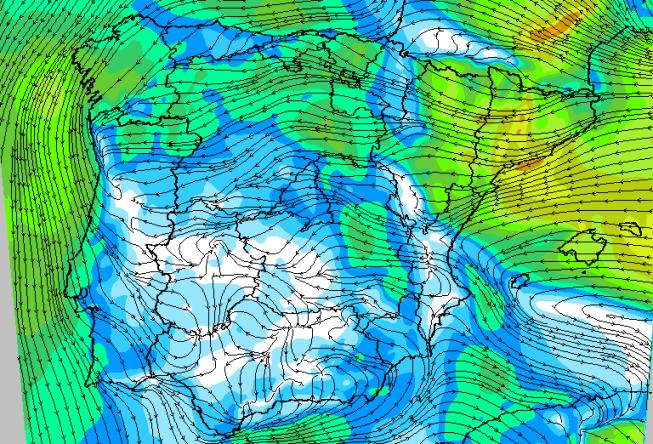 La intensidad el viento de cara al viernes