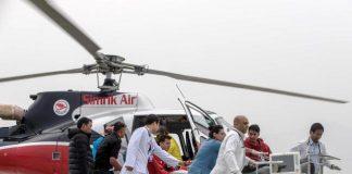 Una imagen del rescate del alpinista en el Annapurna