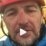 Declaraciones del alpinista en el CB donde se recupera entes de volver a casa