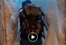 Así ha amanecido la salida del refugio del Trentino