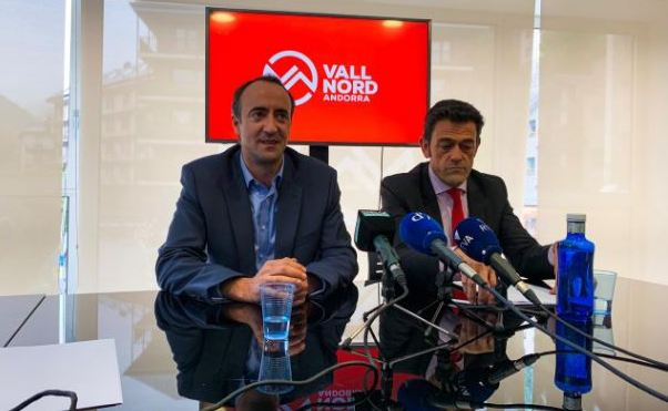 el cónsul mayor de la Massana, David Baró, y el de Ordino, Josep Àngel Mortés
