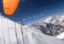El propio alpinista grabó el descenso en pleno vuelo