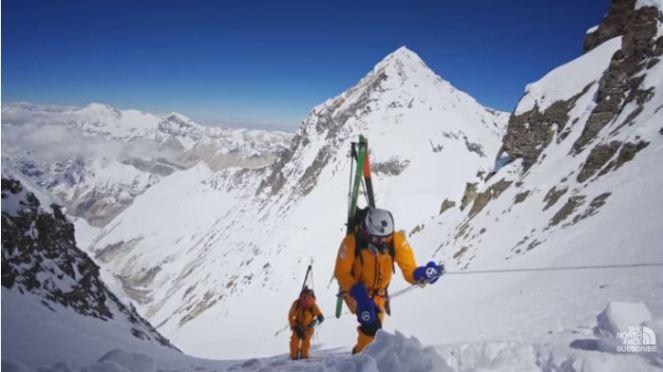 Morrison y Nelson durante la subida al Lhothse